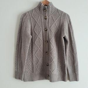 L.L. Bean Merino Wool Blend Cardigan Sweater